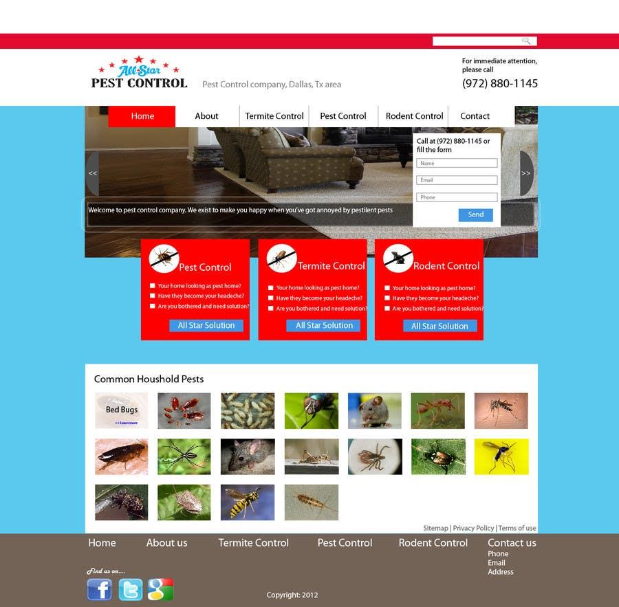 Konkurrenceindlæg #23 for Website Design for All Star Pest Control
