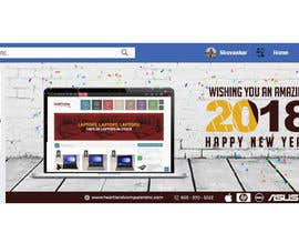 #74 for Design 2018 New Year Facebook Cover Page by sub2016