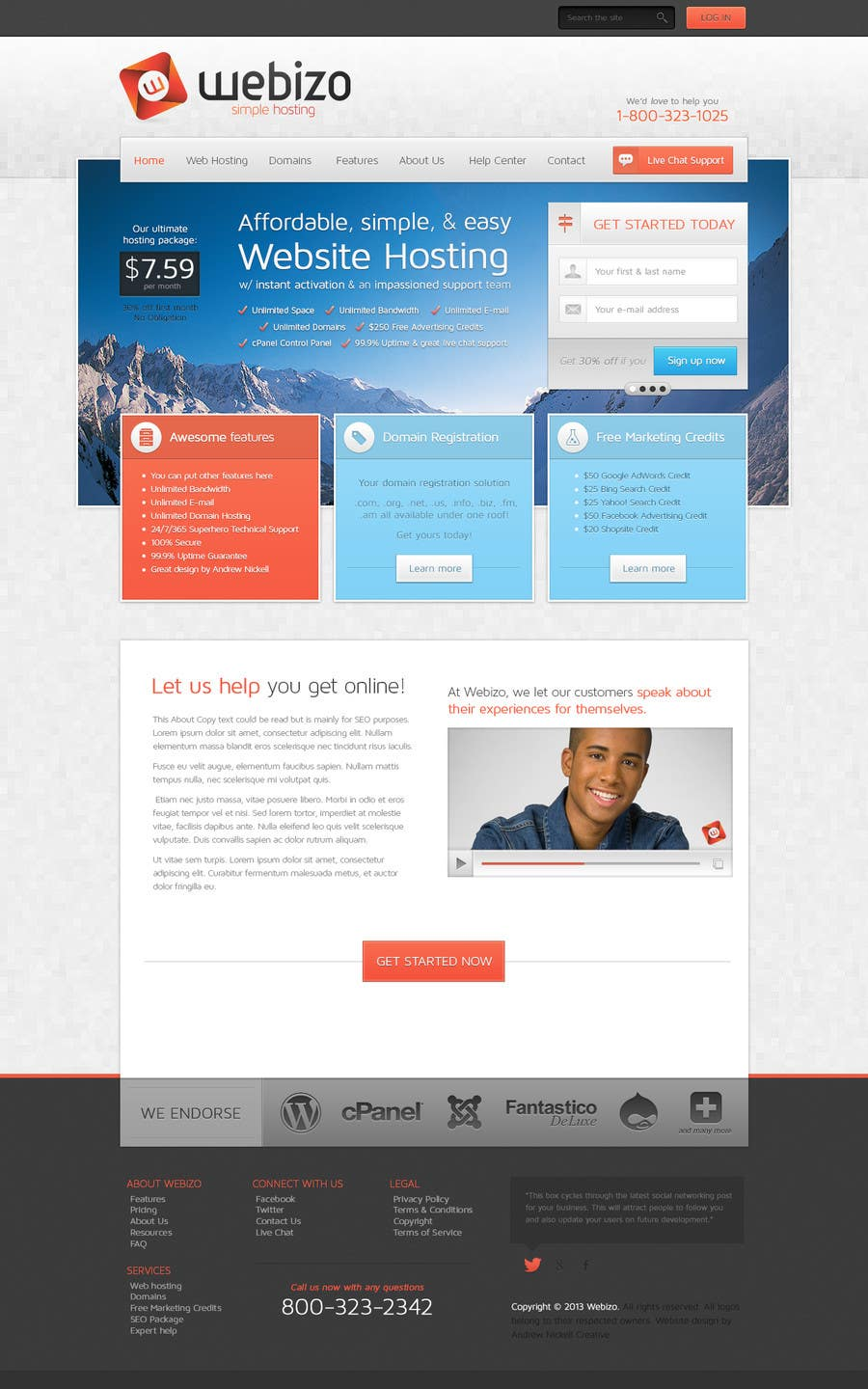 Proposition n°                                        28                                      du concours                                         Website Design for Webizo (Webizo.com)