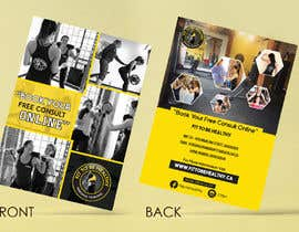 #41 for Double Sided Flyer For Personal Training Business and Studio by vinuprr