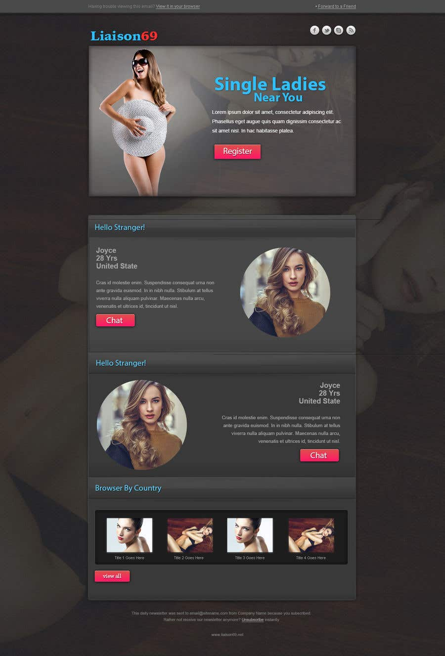 Entry #18 by mozala84 for DESIGN FOR AN E-MAIL NEWSLETTER TEMPLATE ...