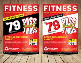 #40 for Design a Gym direct mail Flyer by ThroneStark
