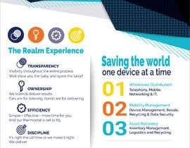 """#60 para Design a one page 8x10"""" sales brochure for REALMCOM por jericksonhatulan"""