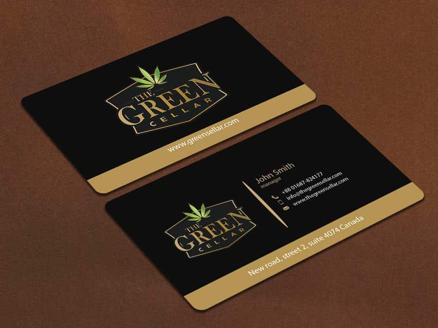 Entry 126 by ranasavar0175 for green cellar cannabis business cards contest entry 126 for green cellar cannabis business cards reheart Images