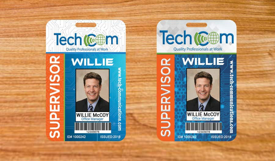 Entry #44 by sakilahmed733 for Design Company ID badges for