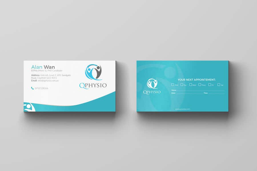Entry 123 By Slimgfx For Clean Minimal Physiotherapy Business Cards