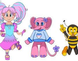 Nro 7 kilpailuun CUTE 2D Character Design of a girl, elephant and bee! (2D ONLY, FULL COLOR, CARTOON) käyttäjältä poddofaria