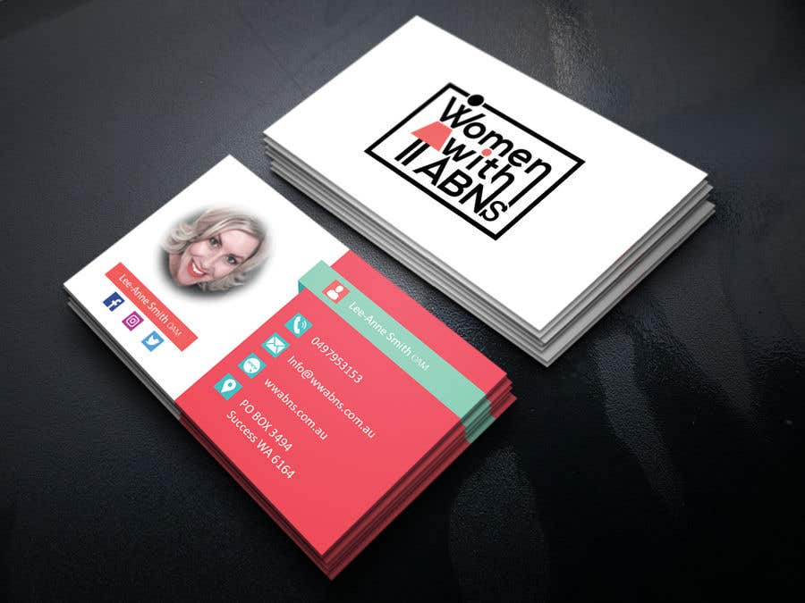 Design business card for women in small business freelancer colourmoves