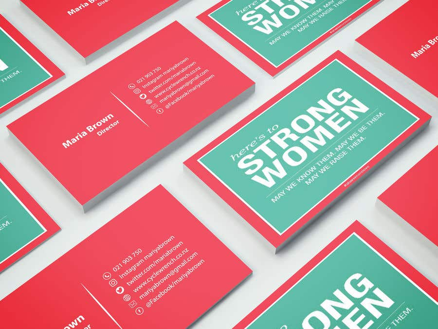 Entry #73 by designnmaker4 for design business card for women in ...