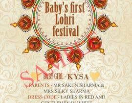 Baby First Lohri Invitation Card Design Freelancer