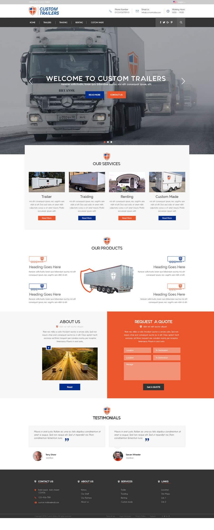 Entry #48 by ByteZappers for Design homepage for website trailer ...