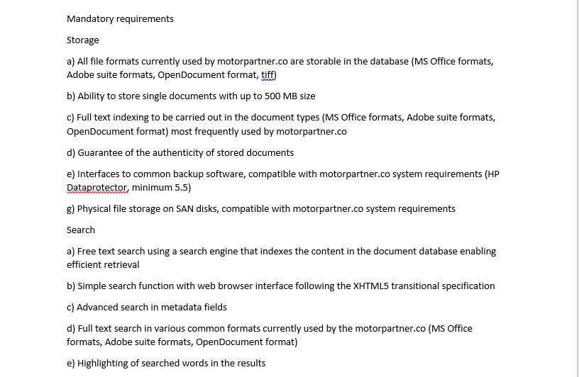 Entry By Danielminovski For Write The Technical Requirements For - How to write technical requirements