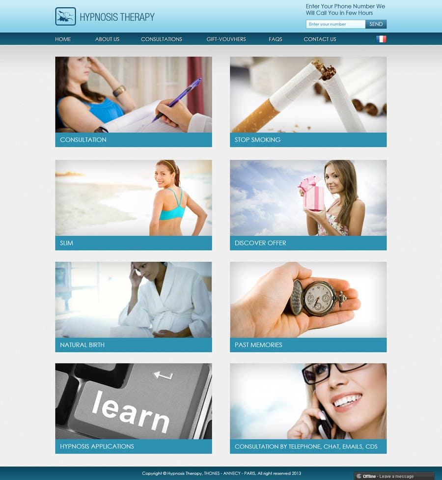 Kilpailutyö #                                        7                                      kilpailussa                                         Website Design for EMERGENCY HYPNOSIS