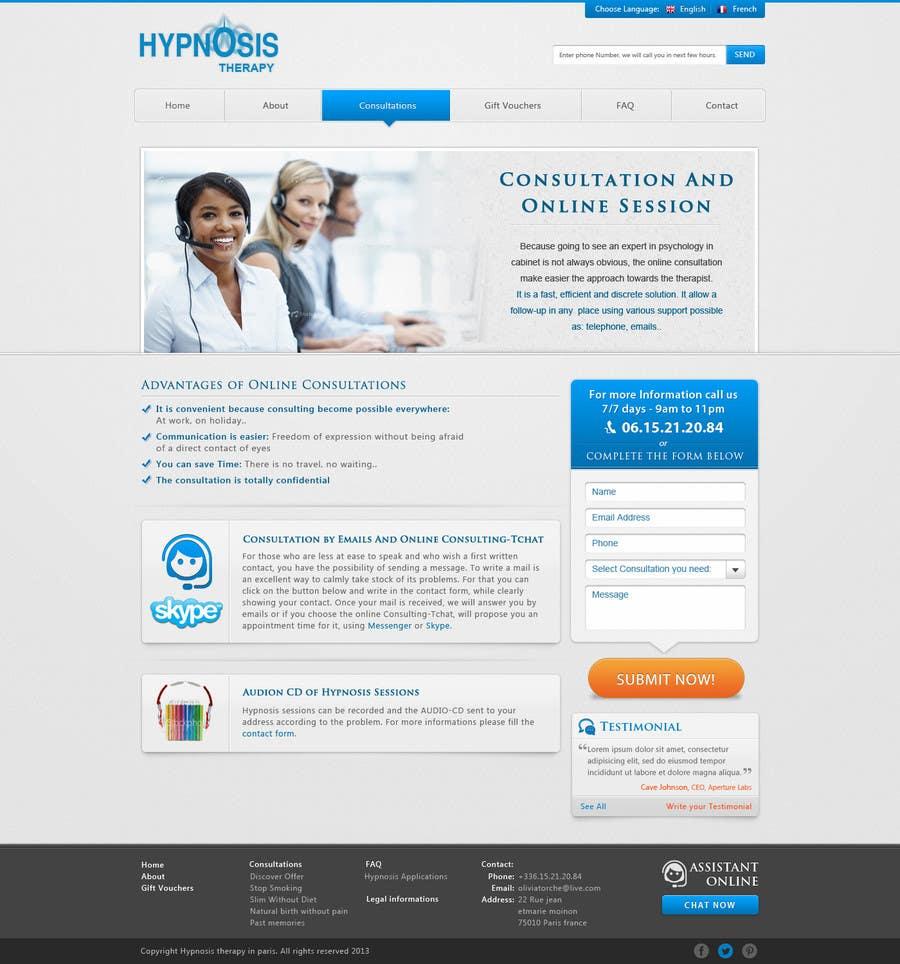 Kilpailutyö #                                        45                                      kilpailussa                                         Website Design for EMERGENCY HYPNOSIS