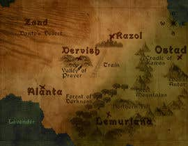 Nro 3 kilpailuun Illustrate Something - a map of a location similar to game of thrones and lord of the rings based on the sample file sent. käyttäjältä luciananovaes