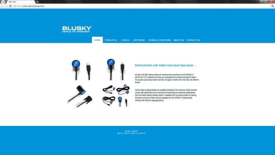 Конкурсная заявка №60 для Website Design for BLUSKY optical probes