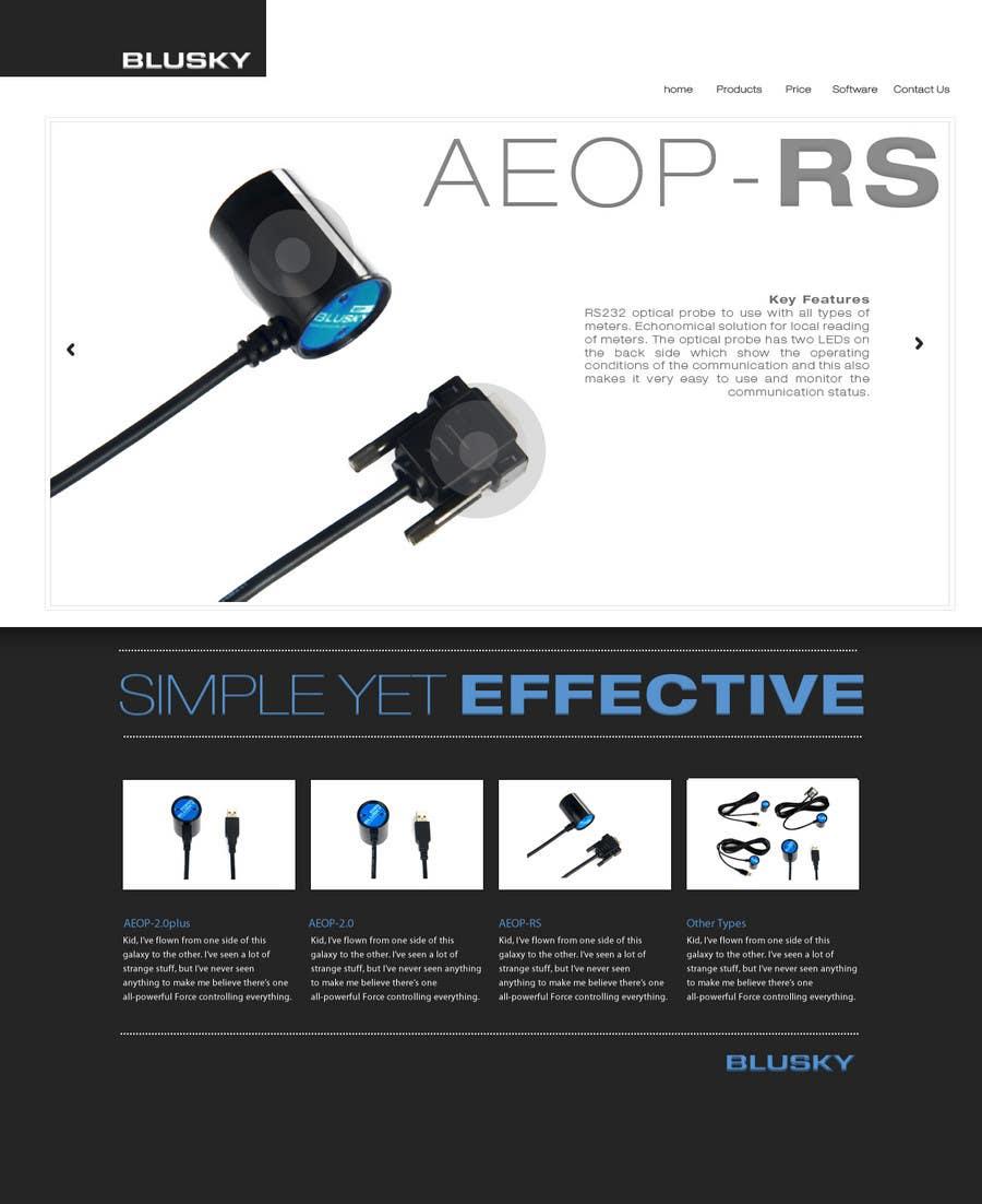 Participación en el concurso Nro.                                        102                                      para                                         Website Design for BLUSKY optical probes