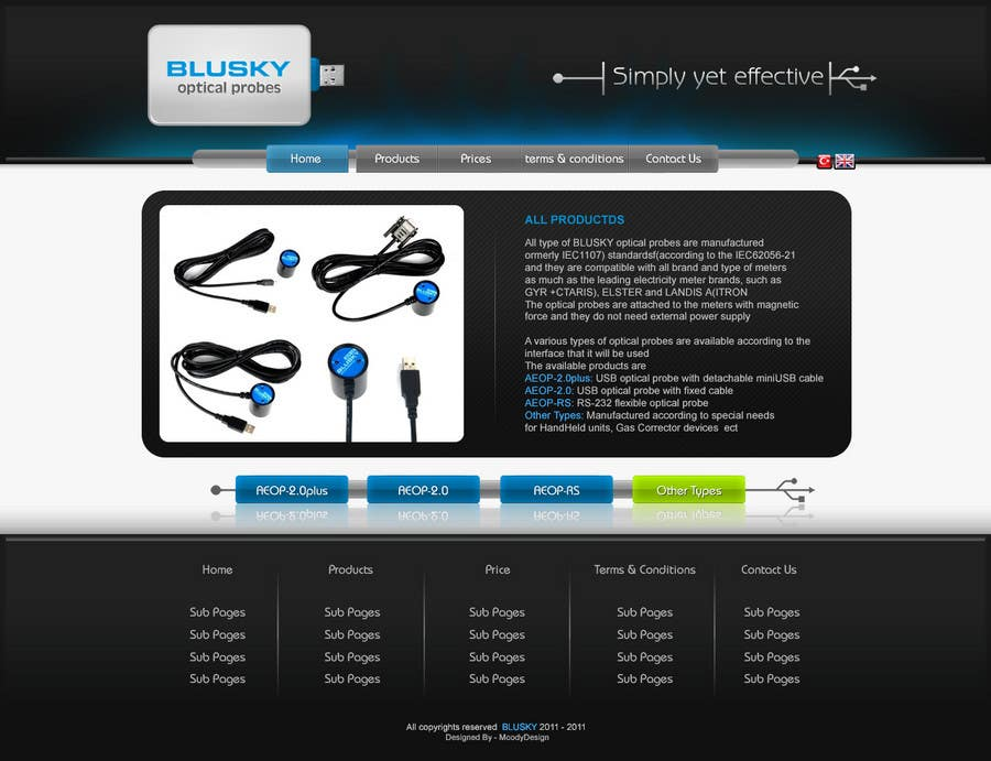 Конкурсная заявка №40 для Website Design for BLUSKY optical probes