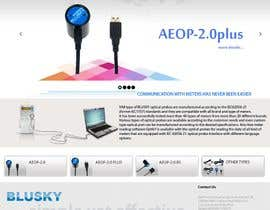 nº 111 pour Website Design for BLUSKY optical probes par Agilitron