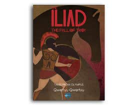 "#91 for Illustration of cover page for a Greek Mythology e-book entitled ""The Iliad"" with provisional subtitle ""The fall of Troy"" by EddieHirano"