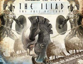 "#110 for Illustration of cover page for a Greek Mythology e-book entitled ""The Iliad"" with provisional subtitle ""The fall of Troy"" by johny179"