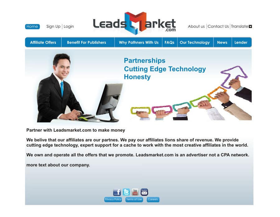 #62 for Website Design for LeadsMarket.com by ezra66