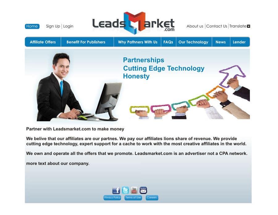 Inscrição nº                                         62                                      do Concurso para                                         Website Design for LeadsMarket.com