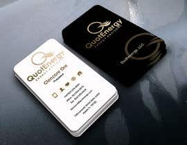 #260 untuk Vertical Business card for Energy firm oleh graphictania