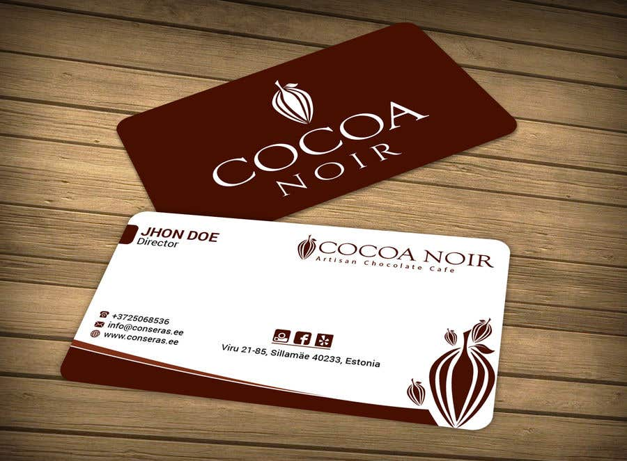 Entry #10 by rtaraq for I need a business card Design for Chocolate ...