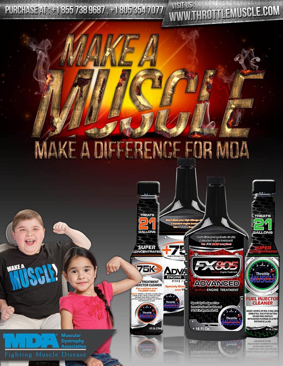 Penyertaan Peraduan #                                        37                                      untuk                                         Advertisement Design for Throttle Muscle