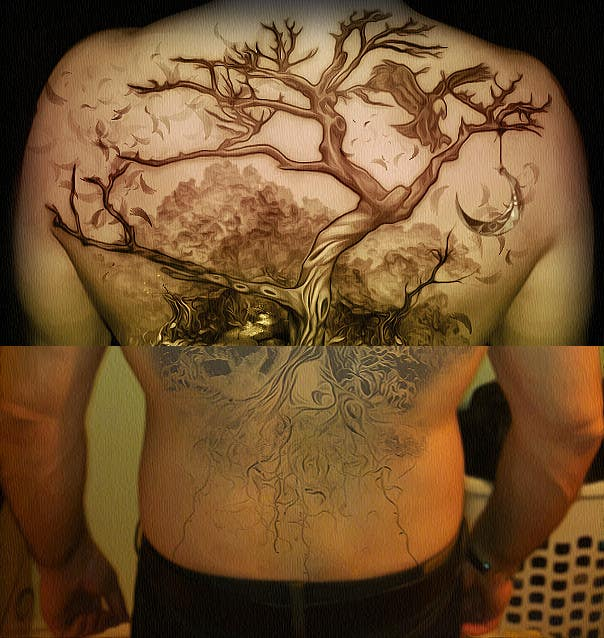 Inscrição nº 15 do Concurso para Design a huge tattoo for my back - starting with what I already have...
