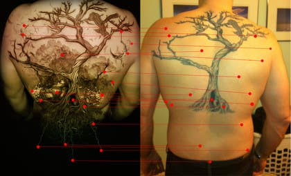 #13 for Design a huge tattoo for my back - starting with what I already have... by Kindland