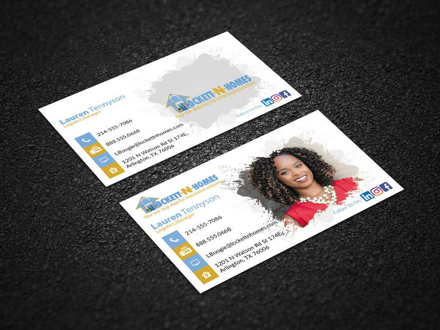 Entry 108 by farhanisfire for design some double sided real estate business card reheart Choice Image