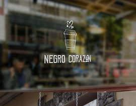 "adarshdk tarafından Design a Logo for a coffee shop called ""NEGRO CORAZÓN"" (black heart) için no 134"