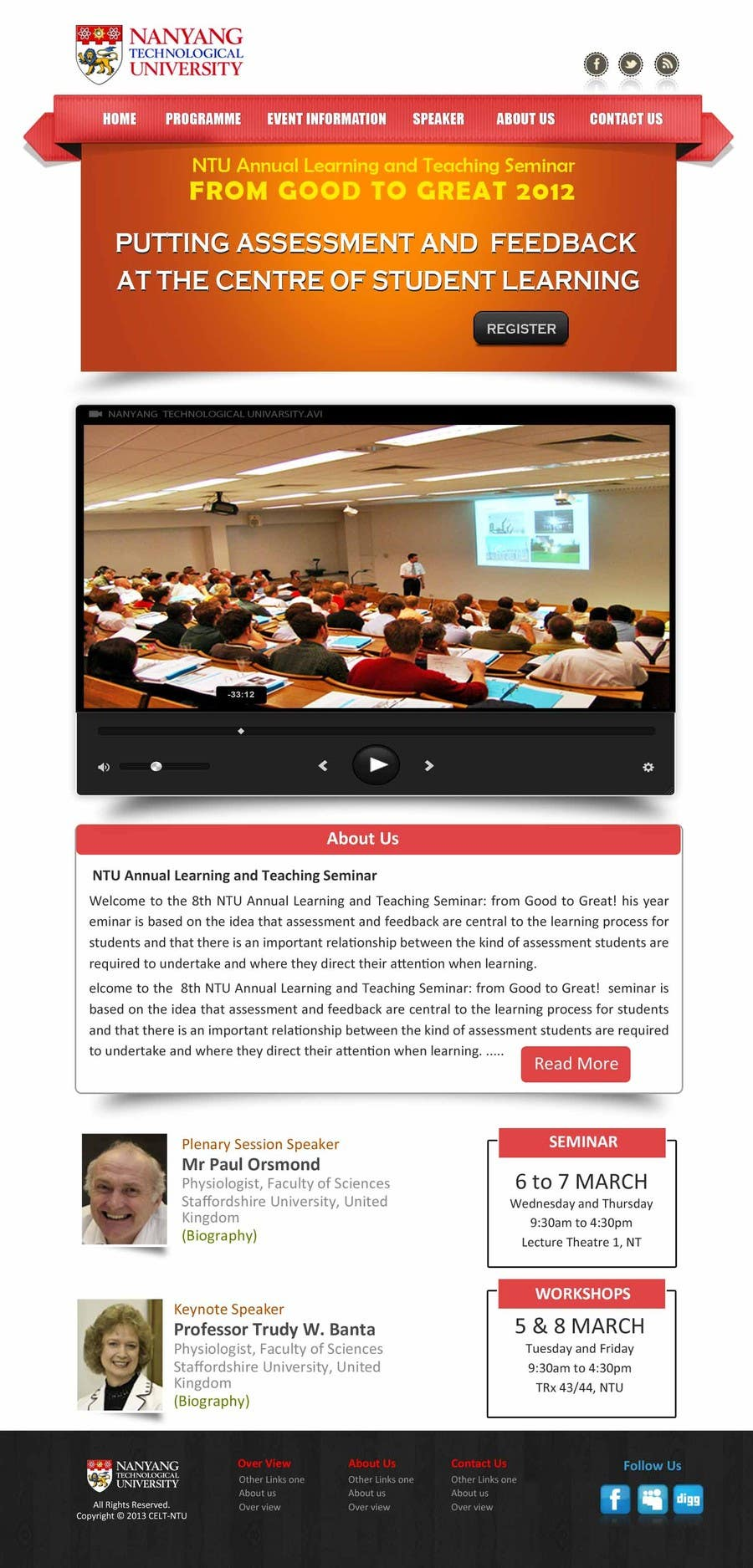 """#54 for Website Design for Seminar: """"Putting Assessment and Feedback at the Center of Student Learning"""" by logitac"""