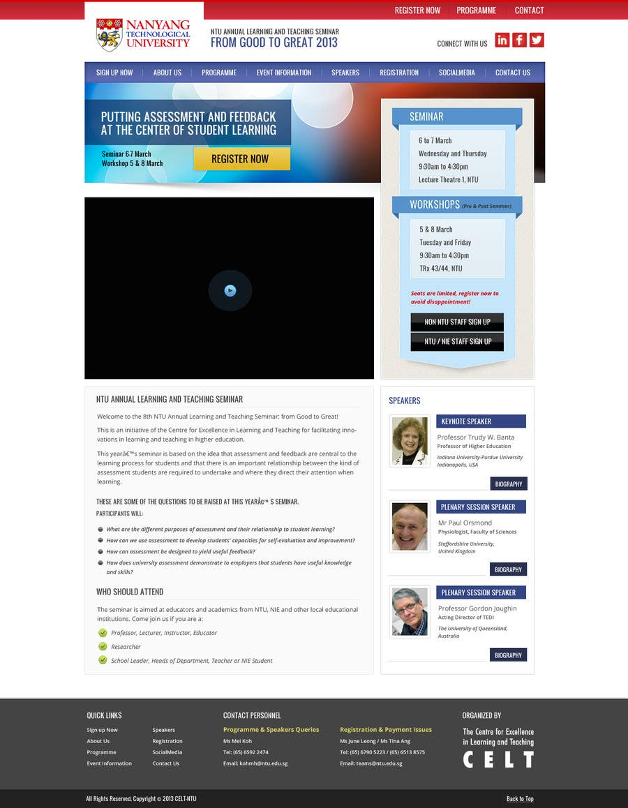 """#64 for Website Design for Seminar: """"Putting Assessment and Feedback at the Center of Student Learning"""" by Pavithranmm"""