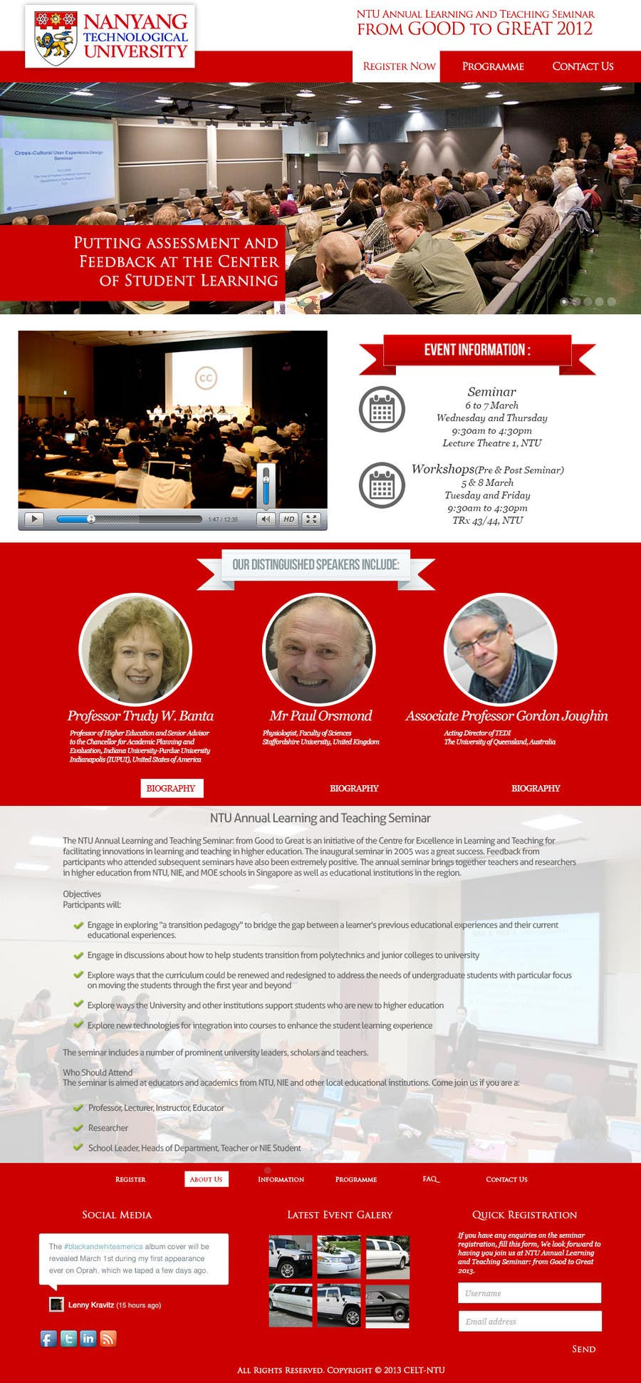 """#50 for Website Design for Seminar: """"Putting Assessment and Feedback at the Center of Student Learning"""" by abatastudio"""