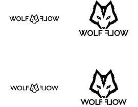 "#117 untuk I'm looking for an edgy but simple logo based on a wolf (wolf face or while body). This will be for branding. Can be silhouette, but design must be black/white. Would be nice to integrate ""Wolf Flow"" in logo. oleh Estranhico"