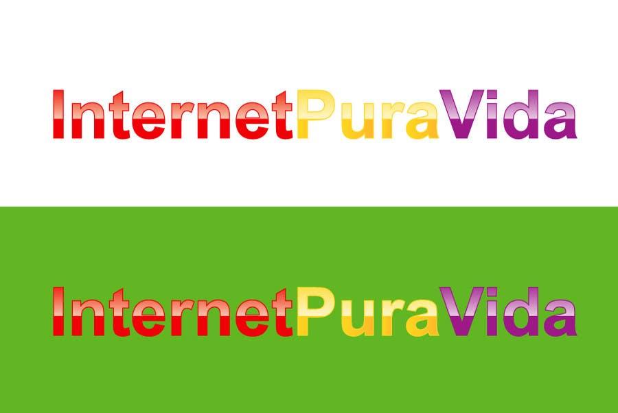 Inscrição nº                                         4                                      do Concurso para                                         Logo Design for  Internet Pura Vida