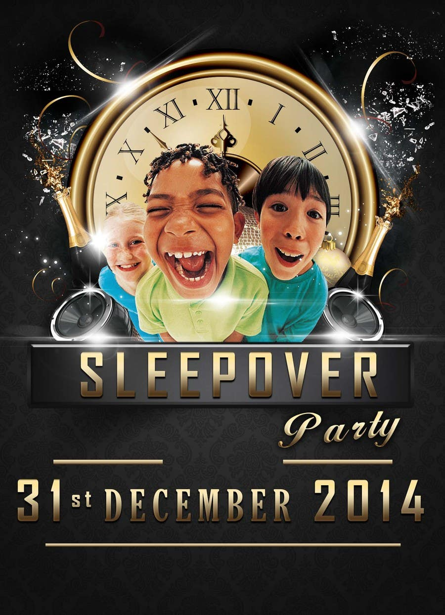 Bài tham dự cuộc thi #                                        19                                      cho                                         Design a Flyer for a New Years Eve Sleep Over Party