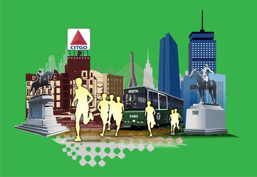 Bài tham dự cuộc thi #                                        6                                      cho                                         Illustration Design for Generic Runners in Boston