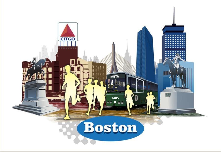 Bài tham dự cuộc thi #                                        9                                      cho                                         Illustration Design for Generic Runners in Boston