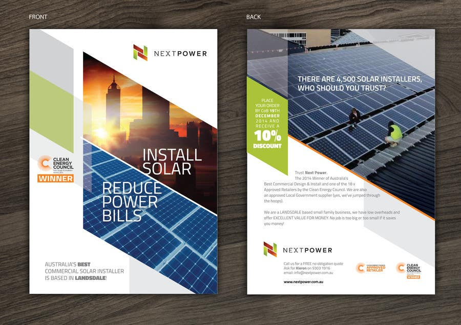 Design A Flyer For Commercial Solar Installer Freelancer