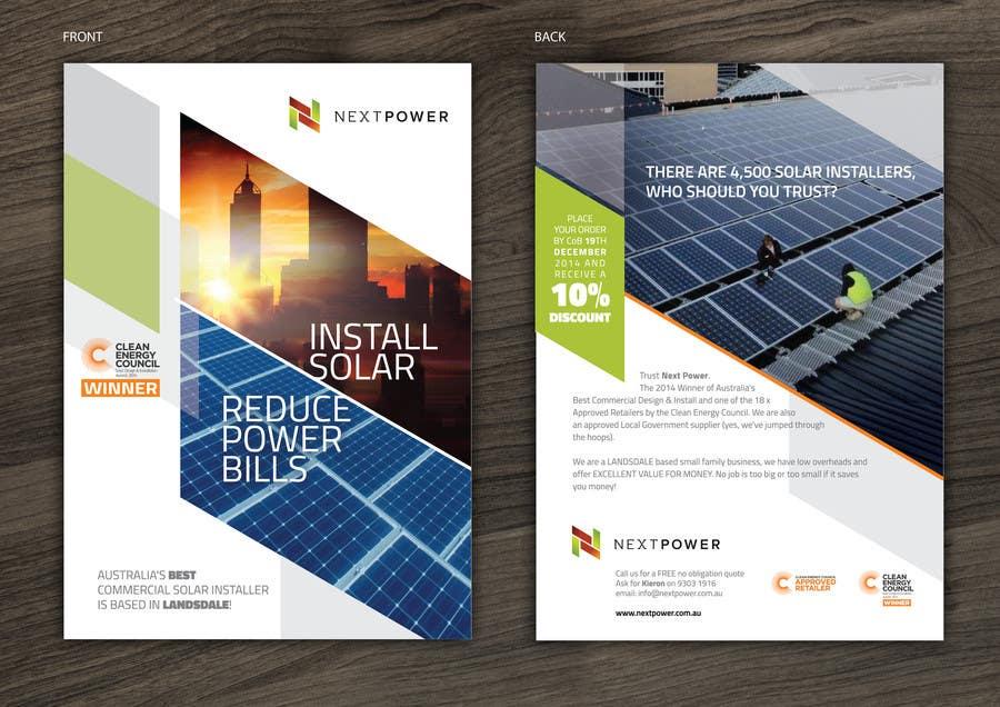 Design A Flyer For Commercial Solar Installer Freelancer