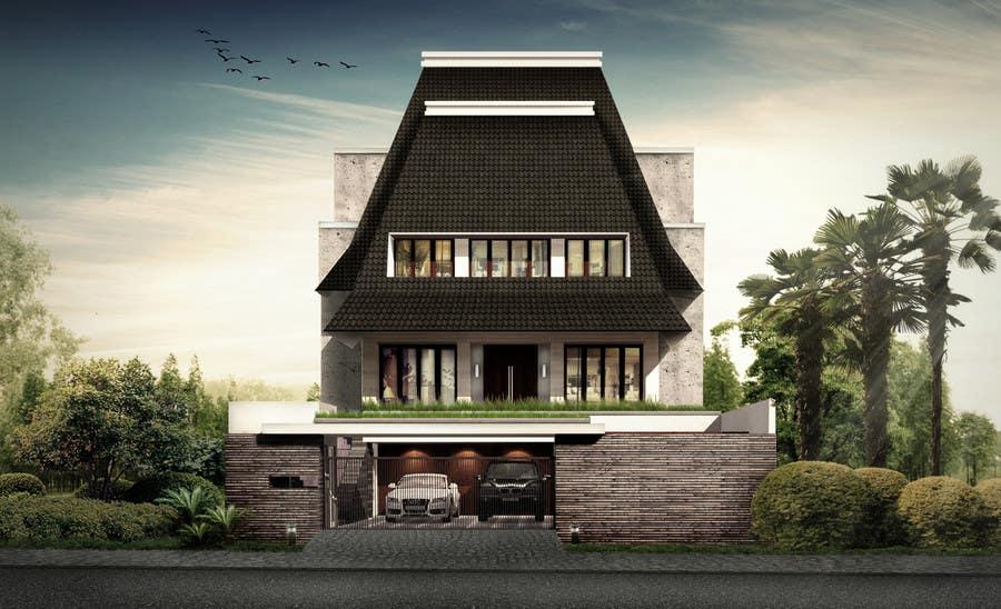 Bài tham dự cuộc thi #                                        12                                      cho                                         Illustration  3D architectural facade