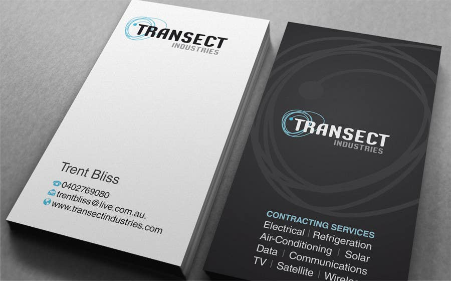#64 for Business Card Design for Transect Industries by midget