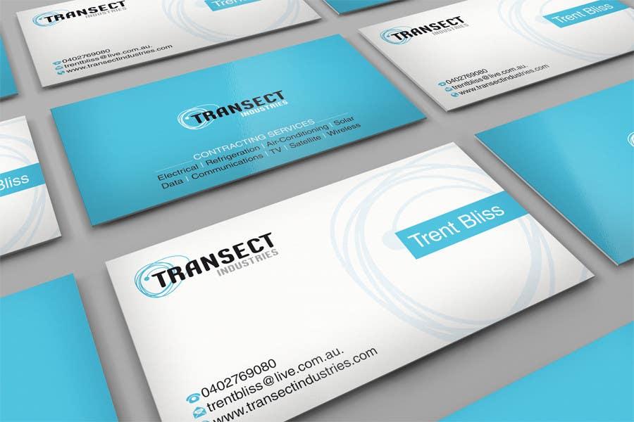 Bài tham dự cuộc thi #                                        62                                      cho                                         Business Card Design for Transect Industries