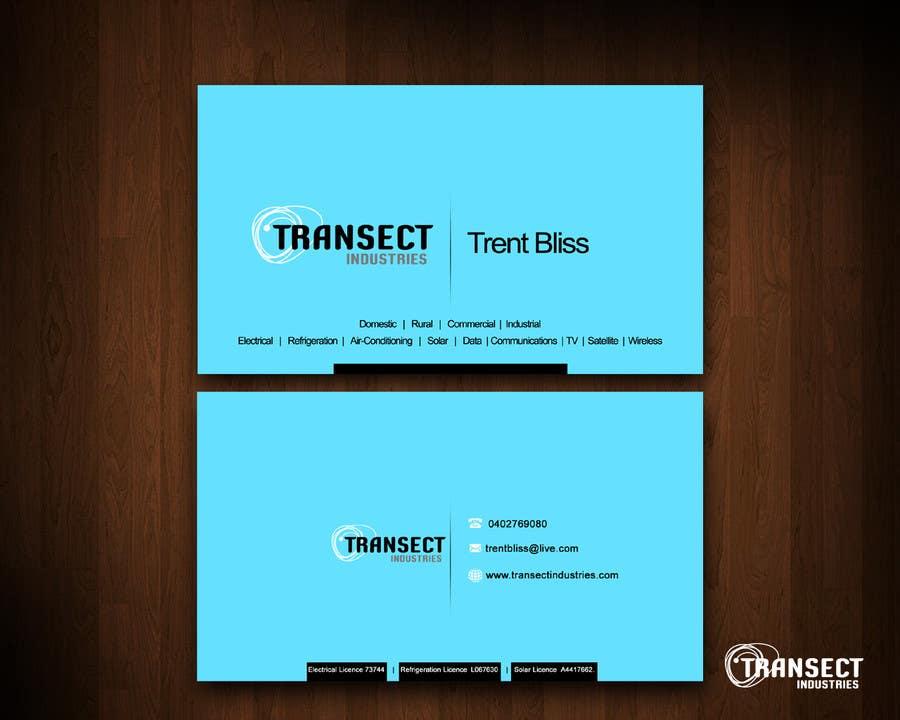 Bài tham dự cuộc thi #                                        55                                      cho                                         Business Card Design for Transect Industries