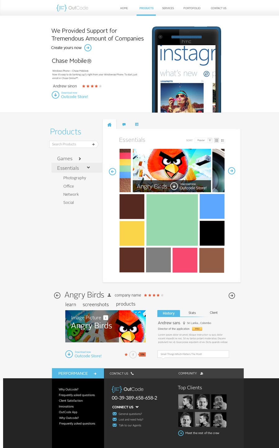 #42 for Website Design for OutCode by Bkreative