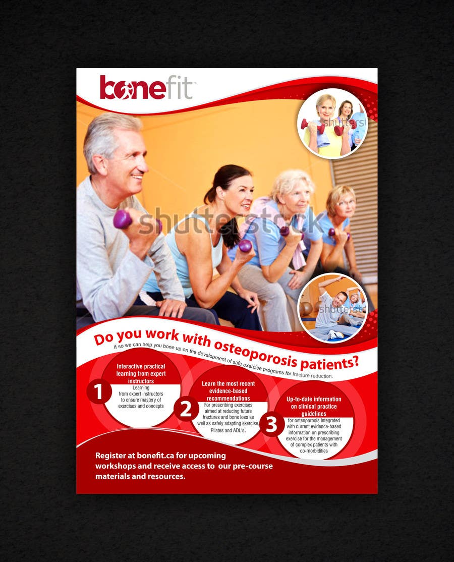 Конкурсная заявка №49 для Poster Design for Osteoporosis Canada- Bone Fit Program